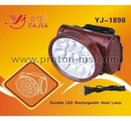 High Brightness Rechargeable Lithium Battery Headlamp YJ-1898