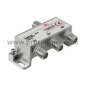 Broadband Cable Splitter HAMA 44124, 3-way, fully shielded, Silver