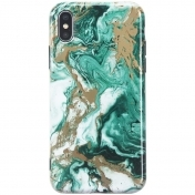Луксозен Твърд Кейс за iPhone X LACK Hard Marble Phone Case For Retro ins Style Art Oil Painting Cover Smooth Cases Capa