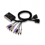 KVM суич ATEN CS682 - 4x USB A, 2x DVI, 4x 3.5mm jack