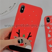 Силиконов Кейс Lovebay Phone Case за iPhone X / XS Коледен